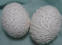 Dekorácie - Kraslice netradičné biele - 10645005_
