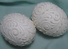 Dekorácie - Kraslice netradičné biele - 10645006_