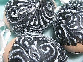 Dekorácie - Kraslice netradičné čierne - 10644989_