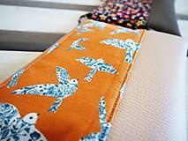 Taštičky - Kozmetická taška veľká - vtáčiky s béžovou - 10645665_