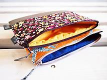 Taštičky - Kozmetická taška veľká - vtáčiky s béžovou - 10645666_