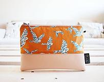 Taštičky - Kozmetická taška veľká - vtáčiky s béžovou - 10645668_