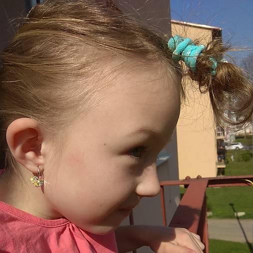 Detské / dievčenské strieborné náušničky Swarovski