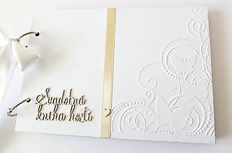 Papiernictvo - svadobná kniha hostí - 10644863_