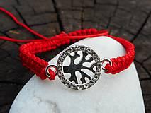 Náramky - red-náramok proti urieknutiu-stromček - 10647247_
