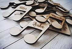 Darčeky pre svadobčanov - Svadobné menovky - magnetky - 10646842_