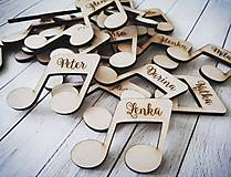 Darčeky pre svadobčanov - Svadobné menovky - magnetky - 10646844_
