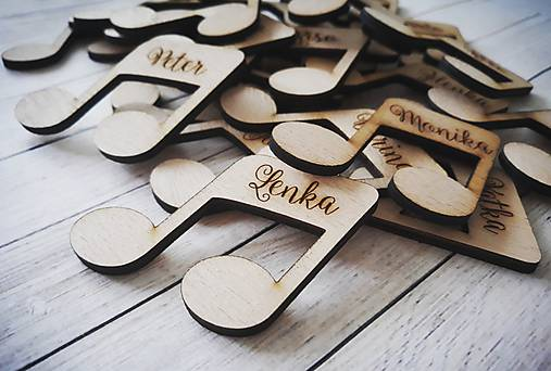 Svadobné menovky - magnetky