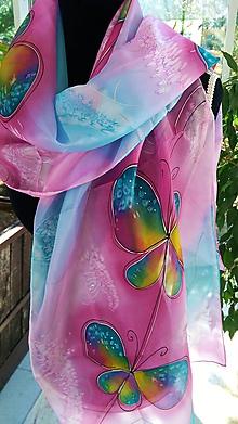 Šatky - motýle - 10646647_