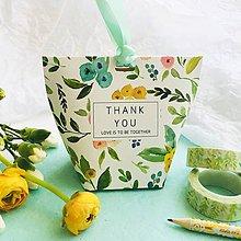 Papier - ozdobná papierová škatuľka pre svadobčanov Jarná lúka - 10646207_