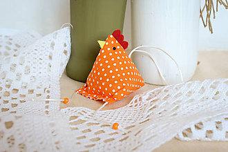 Dekorácie - #Sliepočka, veľkonočná dekorácia,levanduľové vrecúško (Oranžová) - 10646921_