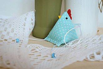 Dekorácie - #Sliepočka, veľkonočná dekorácia,levanduľové vrecúško (Tyrkysová) - 10646923_
