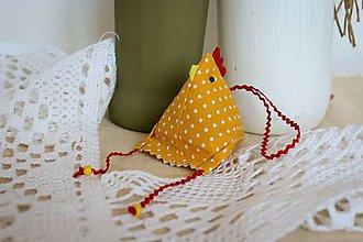 Dekorácie - #Sliepočka, veľkonočná dekorácia,levanduľové vrecúško (Žltá) - 10647068_