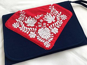 Kabelky - listová kabelka s výšivkou  - 10645810_