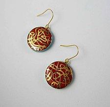 Náušnice - Tana šperky - keramika/zlato - 10646776_