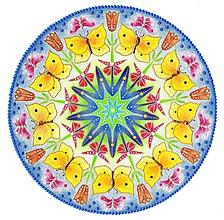 Obrazy - Mandala - Motýlia - 10644816_