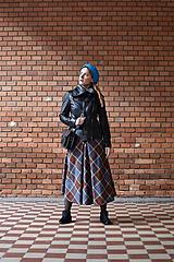 Sukne - midi sukňa s prackou - 10646394_