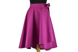 Sukne - Asymetrická zavinovacia sukňa - 10645939_