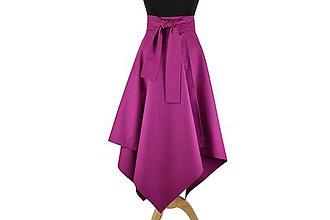 Sukne - Asymetrická sukňa s výraznou viazačkou - 10646029_