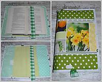 Úžitkový textil - Jarný obal na knihu - 10647042_