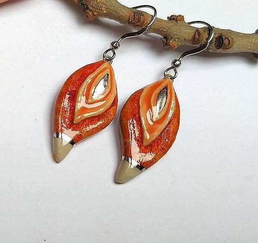 Keramické náušnice - Oranžové