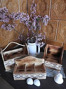Dekorácie - Romantická chalupářská sada s krajkou - 10646934_
