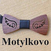 Doplnky - Drevený motýlik , z dreva, anjel, Pánsky, dámsky , unisex - 10646290_