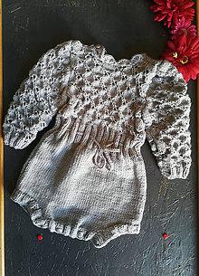 Detské oblečenie - Šedý dievčenský overal - 10646158_