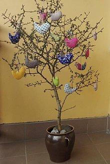 Dekorácie - Šité vtáčiky - 10646415_