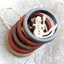 Dekorácie - Drevený Snehuliak s metlou - 10645660_