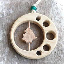 Dekorácie - Drevený Stromček v kruhu - 10645726_