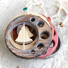 Dekorácie - Drevený zvonček v kruhu - 10645829_