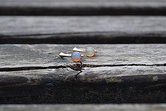 Náušnice - Ethiópsky opál náušnice Ag - 10646306_