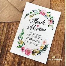 Papiernictvo - Svadobné oznámenie ~Flowers~ - 10645427_