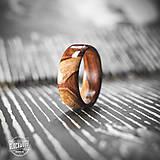 Prstene - Drevený prsteň - samorast - 10645697_