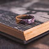 Prstene - drevený prsteň- javorový koreň LEVANDUĽA - 10645756_