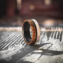 Prstene - drevený prsteň- eben/bocotte/parožie - 10645713_