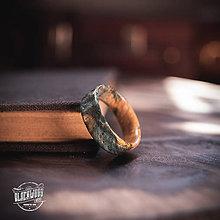Prstene - drevený prsteň - javorový koreň OCEAN - 10645750_