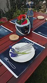 Úžitkový textil - Originál záhradné prestieranie z rifľoviny - 10645110_