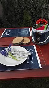 Úžitkový textil - Originál záhradné prestieranie z rifľoviny - 10645112_