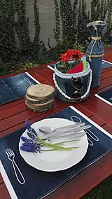 Úžitkový textil - Originál záhradné prestieranie z rifľoviny - 10645118_