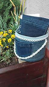 Úžitkový textil - Originál záhradné prestieranie z rifľoviny - 10645148_