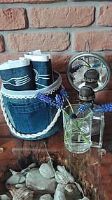 Úžitkový textil - Originál záhradné prestieranie z rifľoviny - 10645151_
