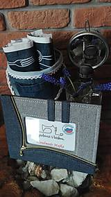 Úžitkový textil - Originál záhradné prestieranie z rifľoviny - 10645153_