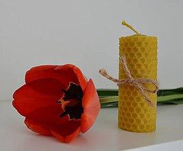 Darčeky pre svadobčanov - Sviečka s vôňou medu - 10646501_
