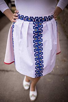 Iné oblečenie - Zástera s modrým vzorom - 10645937_