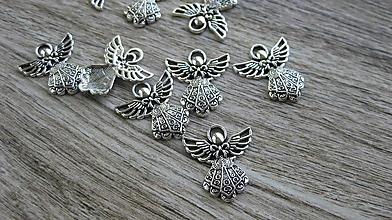 Komponenty - Anjel, víla, krídla, 1 ks (farba platina, 1 ks) - 10646414_