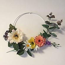 Dekorácie - Kvetinový veniec - farebné leto - 10646161_