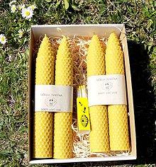 Svietidlá a sviečky - Včelie sviečky v krabičke - 10647195_