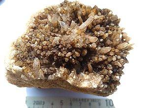 Minerály - Krištáľ s limonitom - 10645816_
